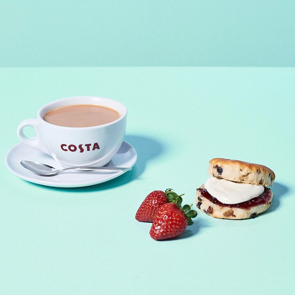 Tea and Scone from Costa